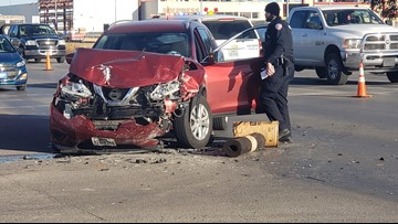 One transported to hospital after two-vehicle crash at N. Bryant/W. 19th St. intersection