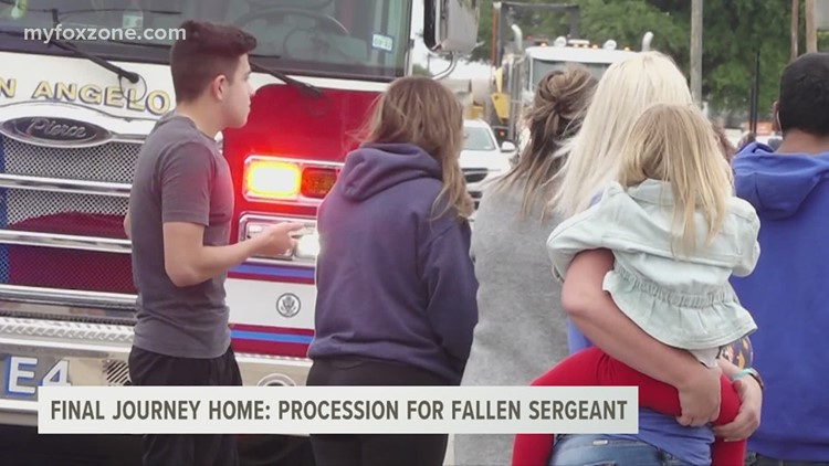 The journey home: procession for fallen Sgt. Stephen Jones