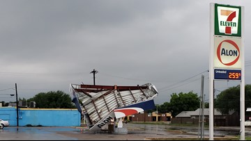 Widespread damage, power outages after severe storms hit Concho Valley, Big Country early Saturday morning