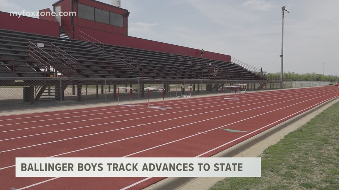 Ballinger High School boys track and field advance to state