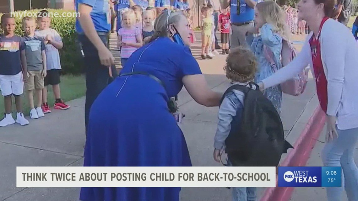 Be mindful of details you post about your child's first day of school