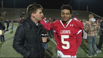 Interview with Cam Dacus after Albany wins the Regional Finals