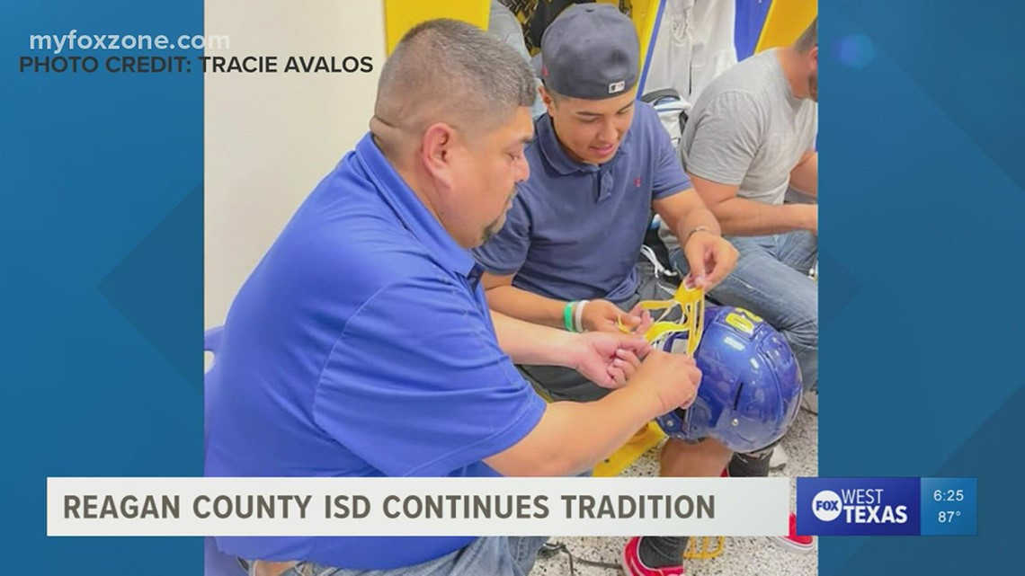 Reagan County ISD continues tradition of 'decals with dad'