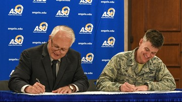 Angelo State, Goodfellow sign transfer agreement for two master's degree programs