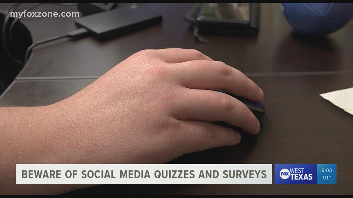 Think twice before taking quizzes on social media