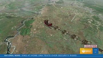 'Wake up West Texas' tracks Santa as he delivers gifts across the globe