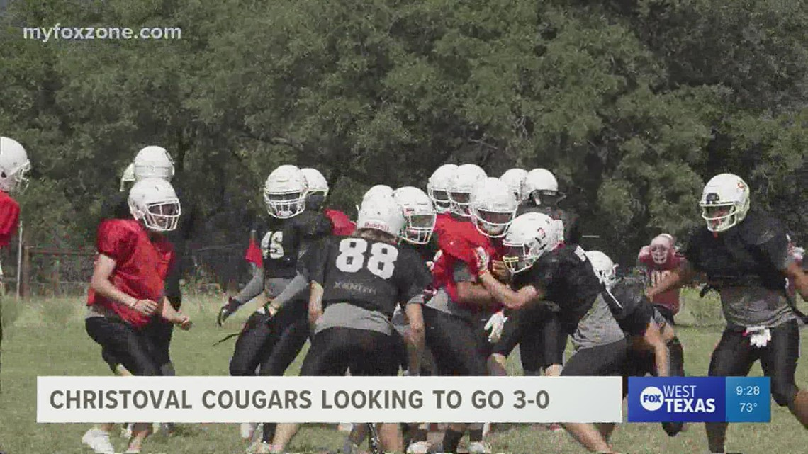 Christoval Cougars football team itching to go 3-0 this week