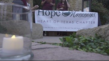 Candle lighting ceremony bringing awareness to pregnancy and infant loss