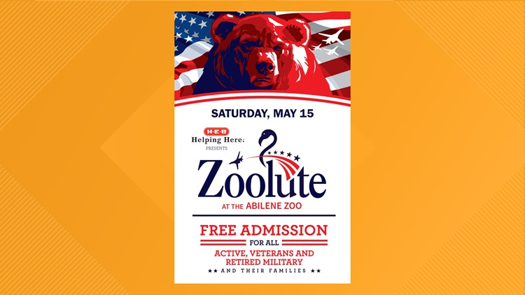 Military members, families to receive free admission during Zoolute at Abilene Zoo