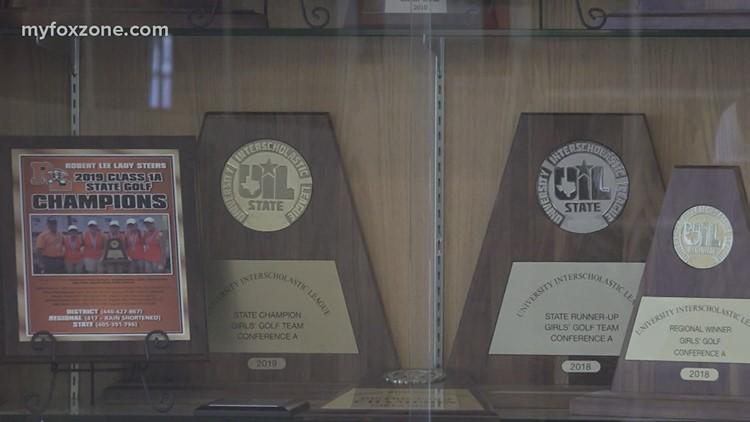 Robert Lee High School girls golf team wins back to back UIL state titles