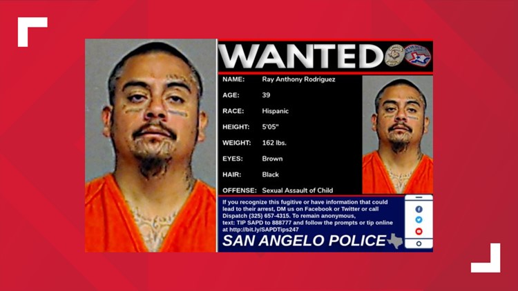 WANTED: Ray A. Rodriguez is being sought on a charge of sexual assault of a child