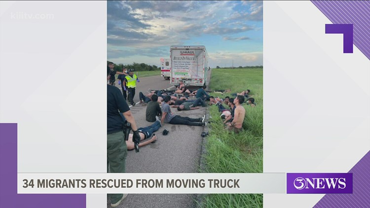 34 migrants rescued from U-Haul truck in Refugio County