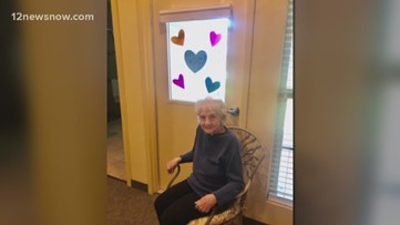 'World of Hearts' project spreads love to southeast Texas nursing homes-social distancing style