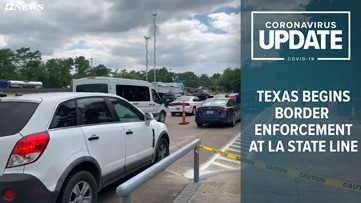 """DPS """"checkpoints"""" underway at Louisiana state line, anyone entering from Louisiana required to self-quarantine for 14 days"""