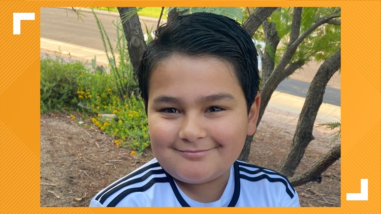 Jesse Silva is 9 and has a tumor on his optic nerve. His family wants to be as strong as he is