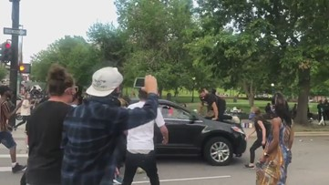 Video: Driver appears to intentionally hit man protesting death of George Floyd