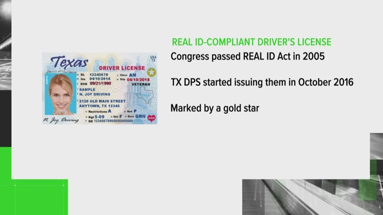 VERIFY: No gold star on your license? Here's what that means for Texans