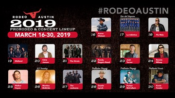 Rodeo Austin announces 2019 music lineup