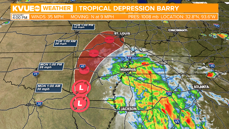 Tropical Depression Barry