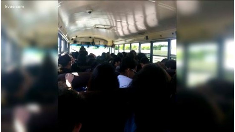 overcrowded Pflugerville school bus