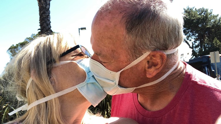 Carolyn Wyler and Ken Welton are now home after two week quarantine at Travis Air Force base.