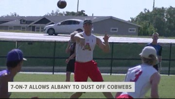Summer 7-on-7 ball allows Albany to dust off football cobwebs