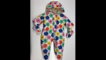 RECALL: Girls' infant snowsuits from The Children's Place are choking hazard
