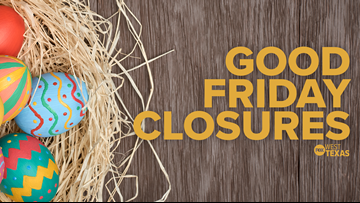 Big Country Good Friday, Easter weekend closures, 4/19