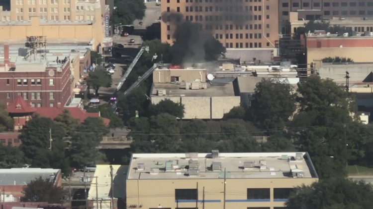 Fire reported at Abilene newspaper