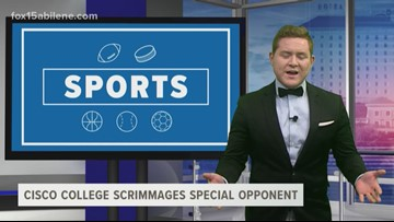 Cisco College scrimmages a special opponent