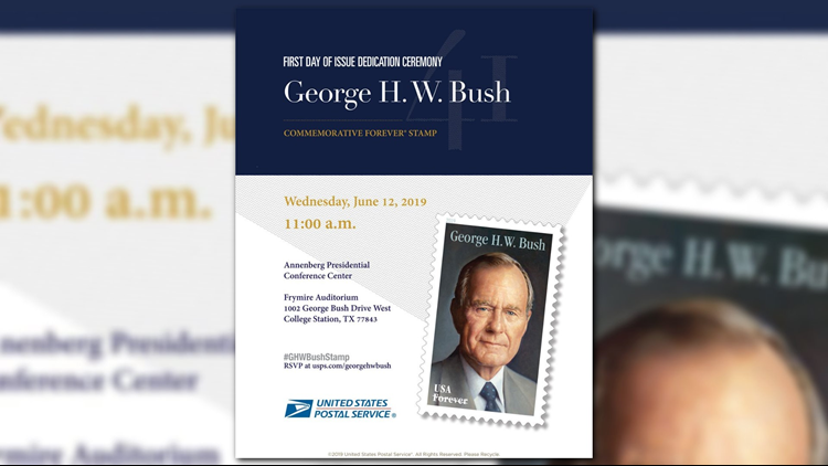 TODAY: USPS to unveil commemorative George H.W. Bush stamp in College Station