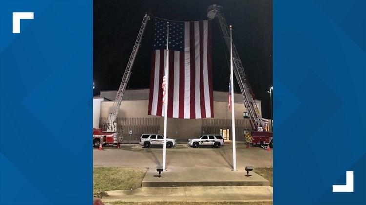 flag for Deputy Dickerson