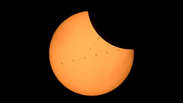 WATCH: International Space Station flies across sun during eclipse
