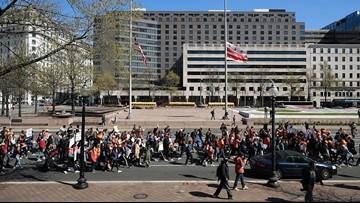 Students stage school walkouts on Columbine anniversary