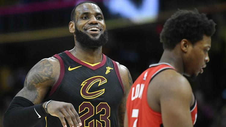 Lebron James 2018 playoffs Raptors USAT