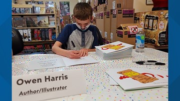 The adventure is just beginning | 10-year-old hosts book signing after publishing first book