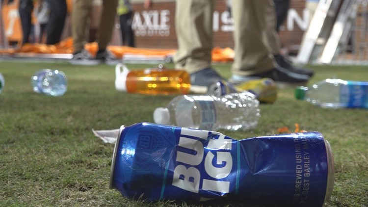 At least 18 arrested Saturday as UTPD works to identify fans who threw trash at Neyland Stadium