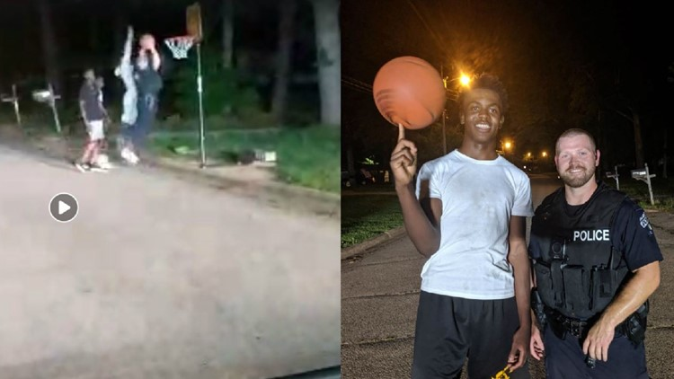 They had the cops called on them for shooting hoops. An officer let them finish if he got to play, too