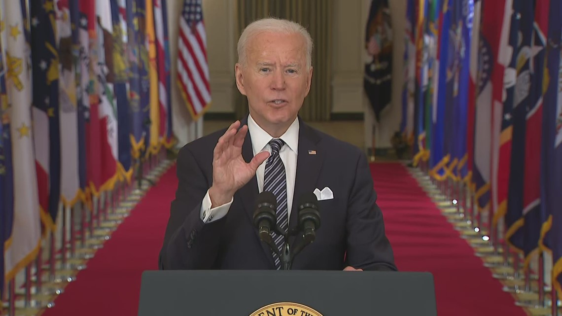 Biden: July 4th with loved ones is the goal, but conditions can change