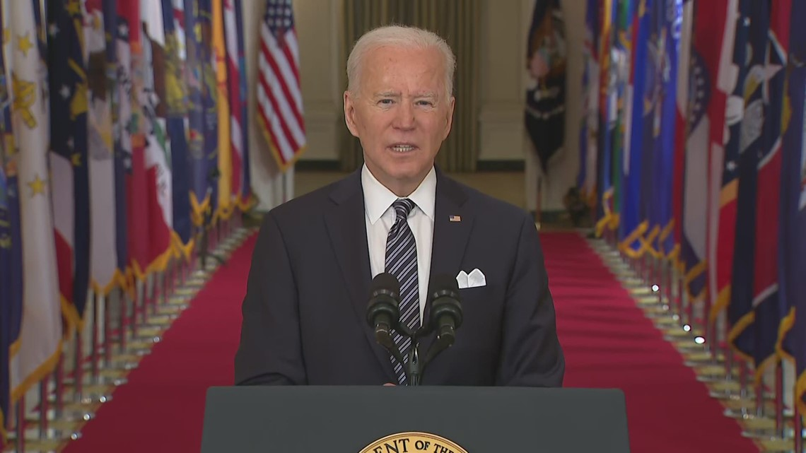 Biden: On track for 100 million COVID shots by 60th day in office