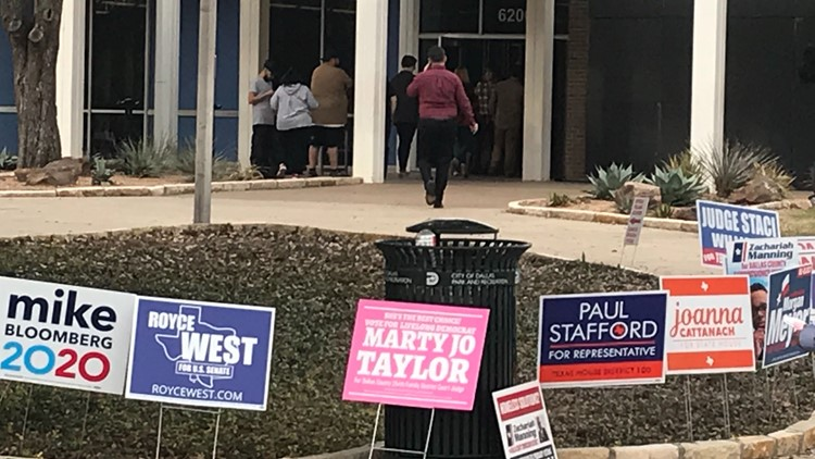 Super Tuesday voting at Samuell-Grand Rec Center in East Dallas