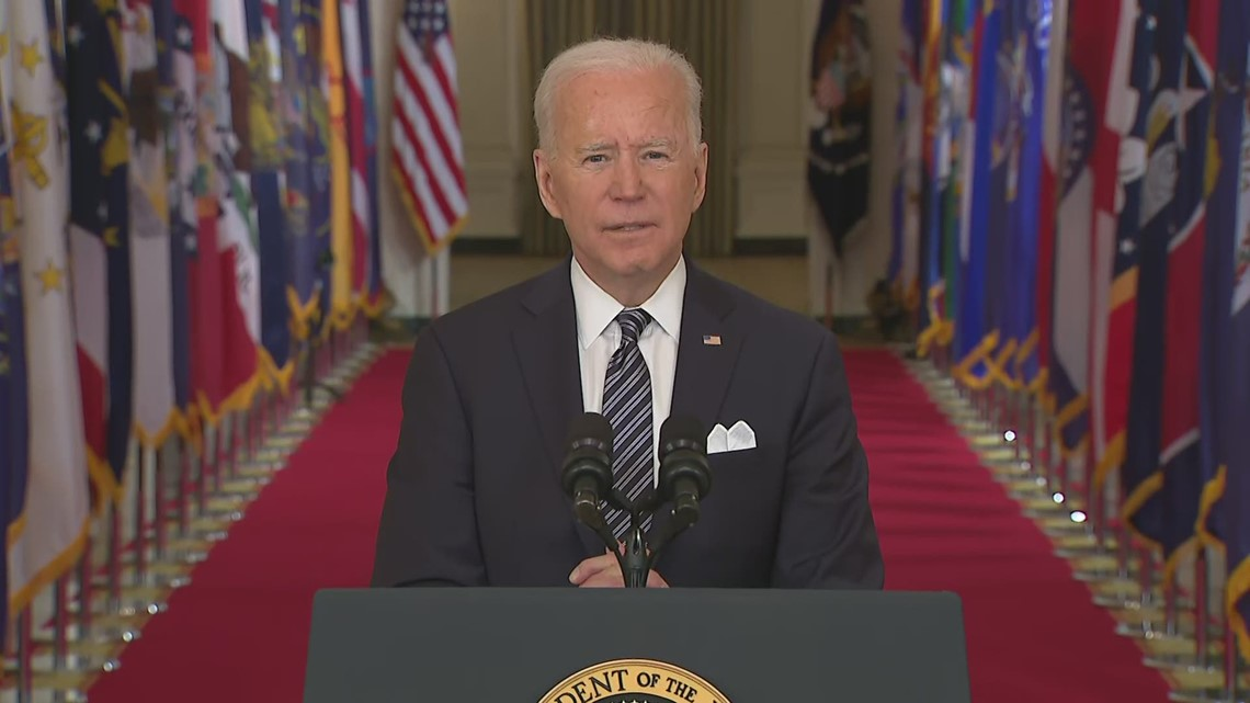 Biden: Family of 4 getting $5,600 in stimulus from COVID relief bill