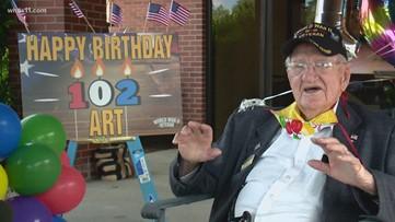 WWII Army Veteran celebrates 102nd birthday