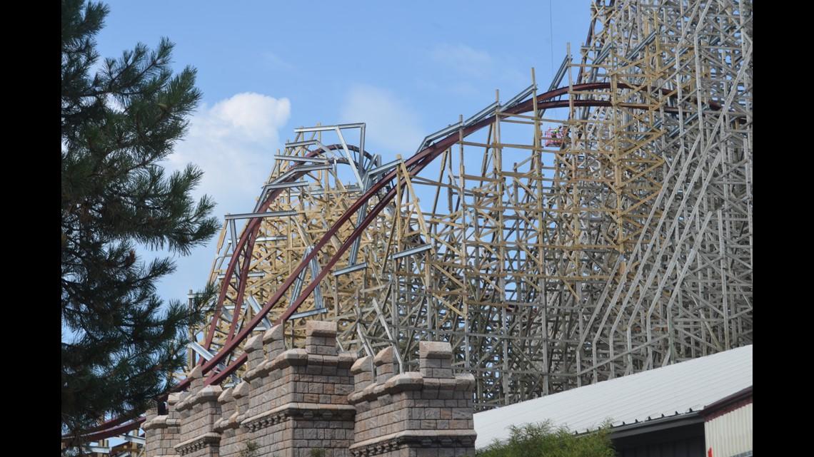 Photos Cedar Point Tour Of Mean Streak Re Construction Site