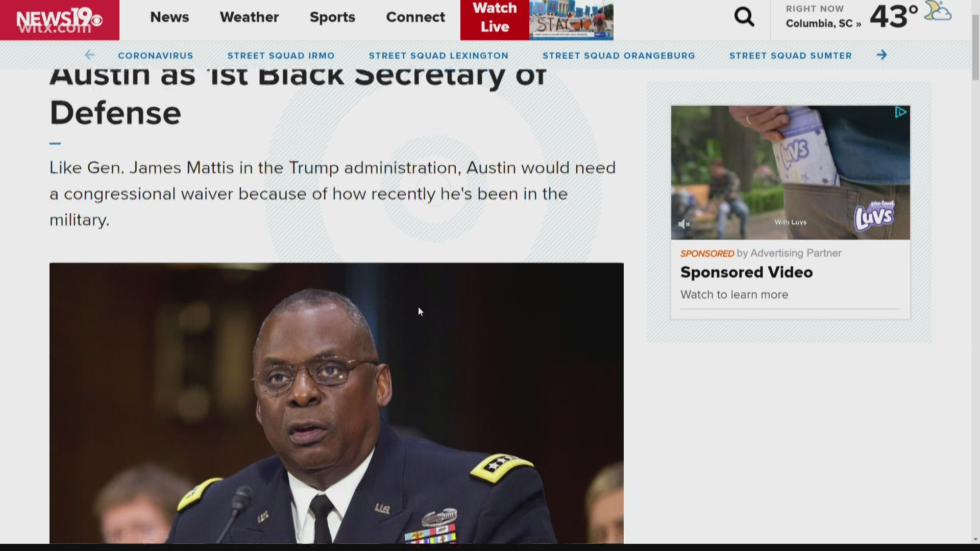 Biden Picks Gen Lloyd Austin To Be Secretary Of Defense Myfoxzone Com