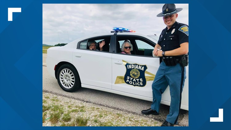 Indiana state trooper escorts stranded women to lunch date