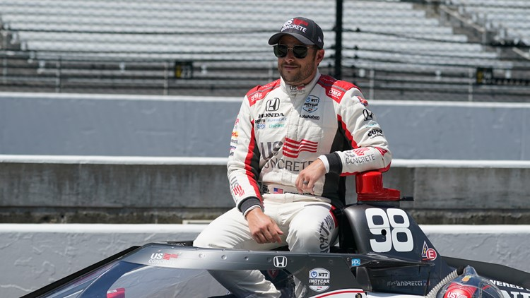 Marco Andretti wins his first pole at IMS