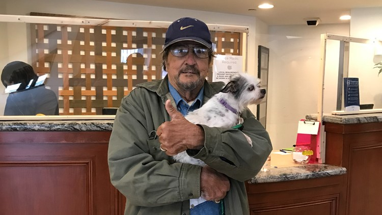 Homeless veteran and his dog given shelter, food after trespassing complaint turns into community backing the duo