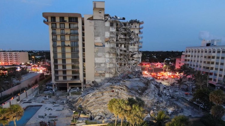 Video shows Miami-area condo collapse; 1 dead, 35 rescued, as many as 51 unaccounted for
