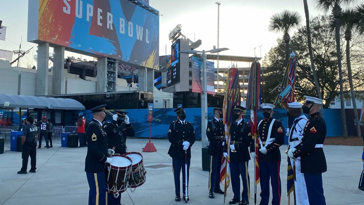 United States Color Guard represented at Super Bowl LV